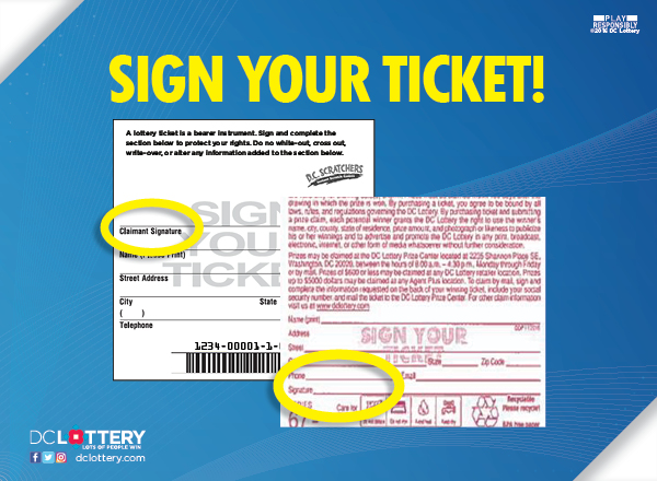Photo Showing Where to Sign Your Ticket